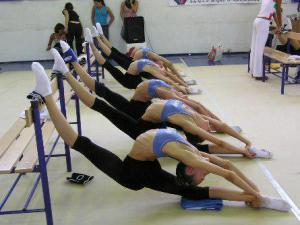 rhythmic gymnasts